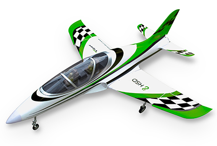HSDJETS 105mmEDF Super Viper Green Checker